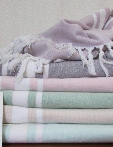 Полотенце для бани и сауны PESTEMAL (серый)