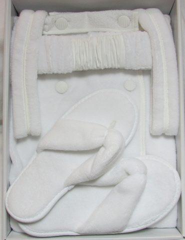 Женский набор для сауны SKIRT (белый)