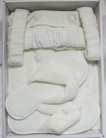 Женский набор для сауны SKIRT (кремовый)