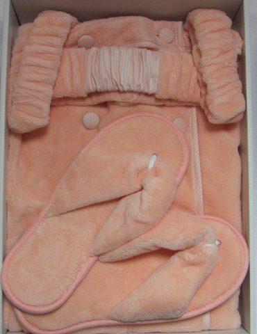 Женский набор для сауны SKIRT (персиковый)