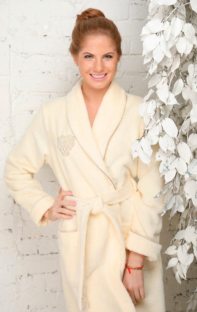 FELICHE (крем) махровый женский халат