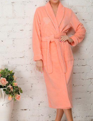 FELICHE (персик) махровый женский халат