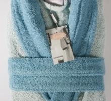 Набор халат махровый с полотенцем ADRA (ментол)