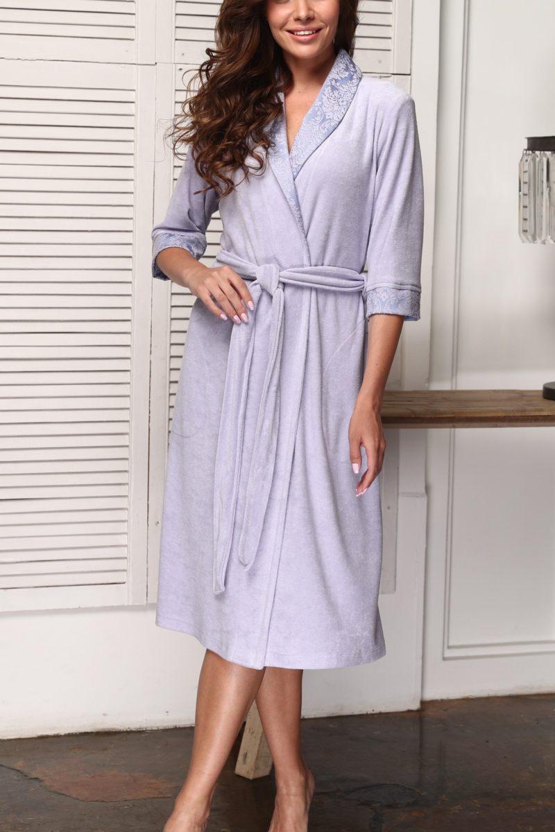 Carolina (сирень) женский бамбуковый халат