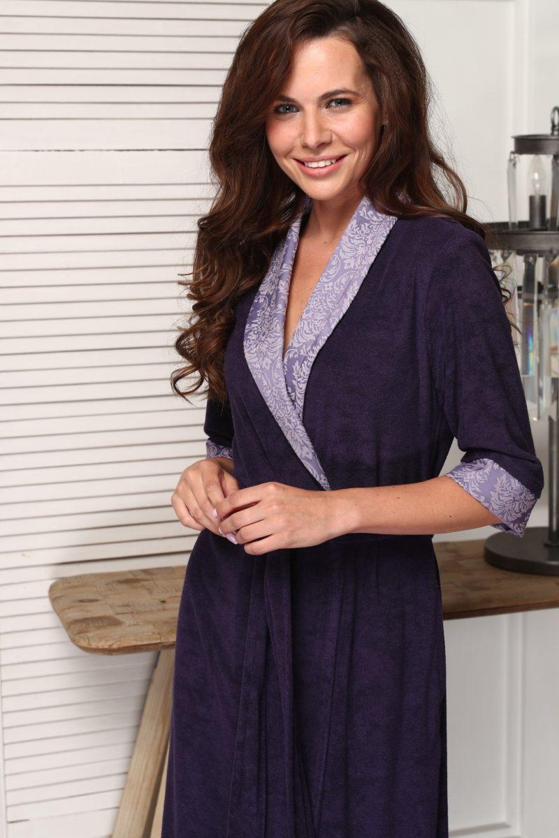 Carolina (слива) женский бамбуковый халат
