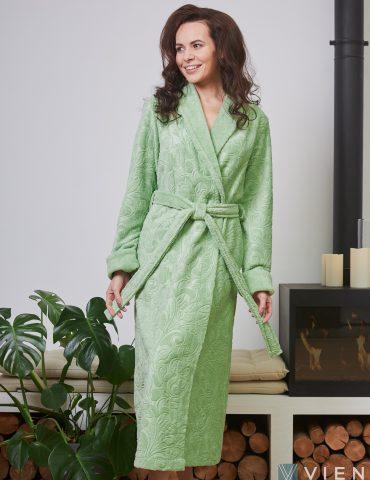 Женский бамбуковый халат BELINDA(фисташка)