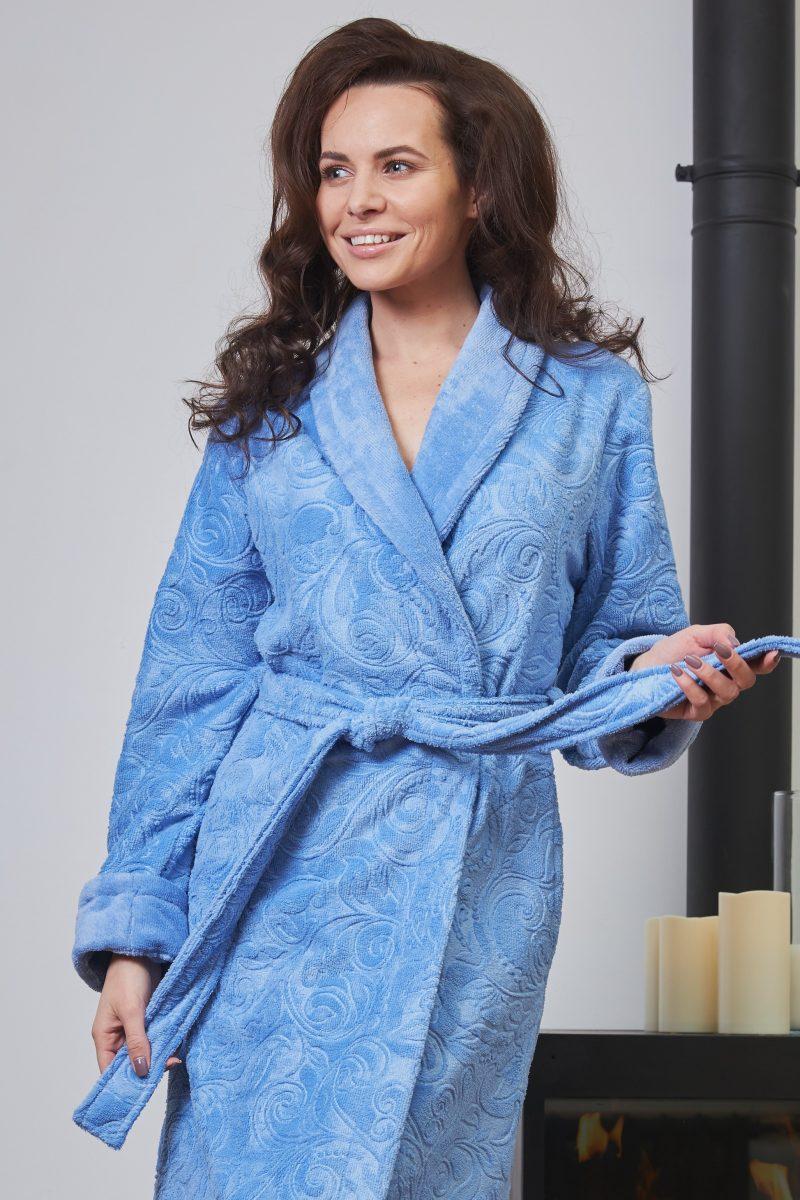 Женский бамбуковый халат BELINDA (фиалка)