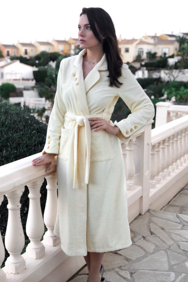 Lady Di (cream) женский бамбуковый халат