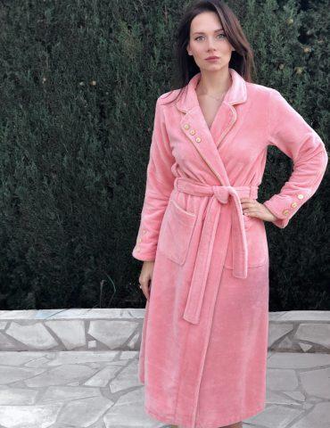 Lady Di (персик) женский бамбуковый халат