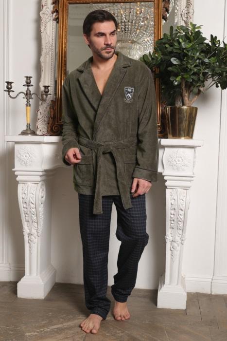 Мужской комплект халат-пиджак с брюками Arsenal (хаки)
