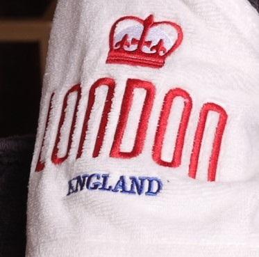 London City (Antracit) мужской халат с капюшоном