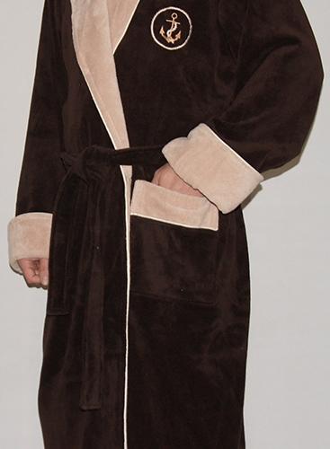 Lamar (шоколад) мужской махровый халат