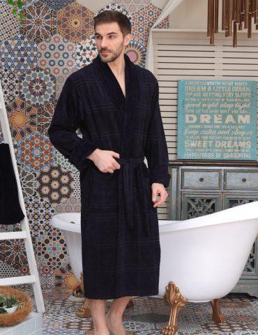 Comfort (Navy) классический мужской халат