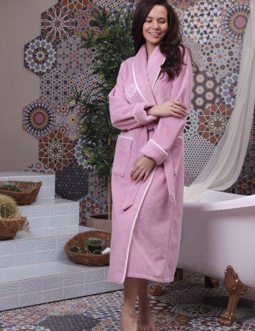 Juliette (сухая роза) женский бамбуковый халат без капюшона
