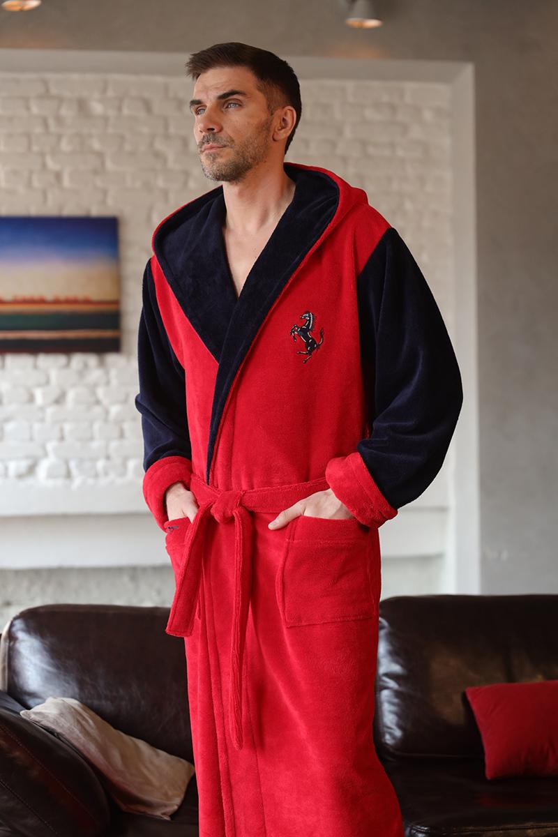 Fredo (Red) мужской халат с капюшоном