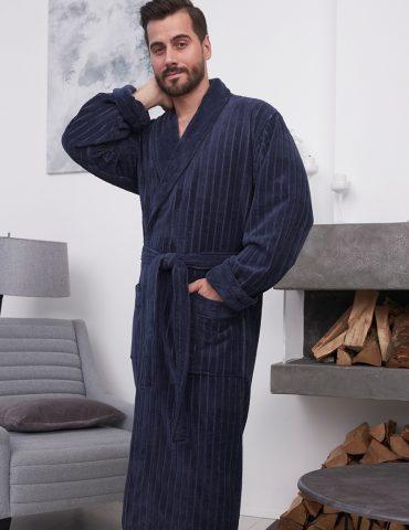 Lomond (Denim) классический мужской халат