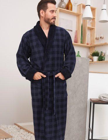 Neapol (Navy) мужской бамбуковый халат
