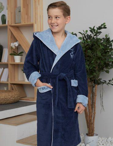 Ronaldo (Denim) подростковый бамбуковый халат