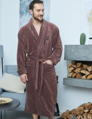 Мужской махровый халат GRAND DELUX (Mokko)