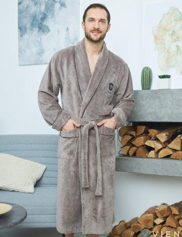 Мужской махровый халат GRAND DELUX (Smoky)