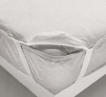 Наматрасник на резинке с пропиткой (белый)