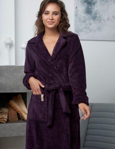 VALENCIA (слива) махровый женский халат