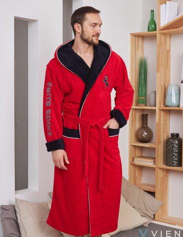 Махровый халат FERRA SPORT (Red)