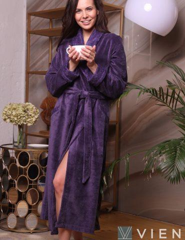 Махровый халат для женщин PATRICE (слива)
