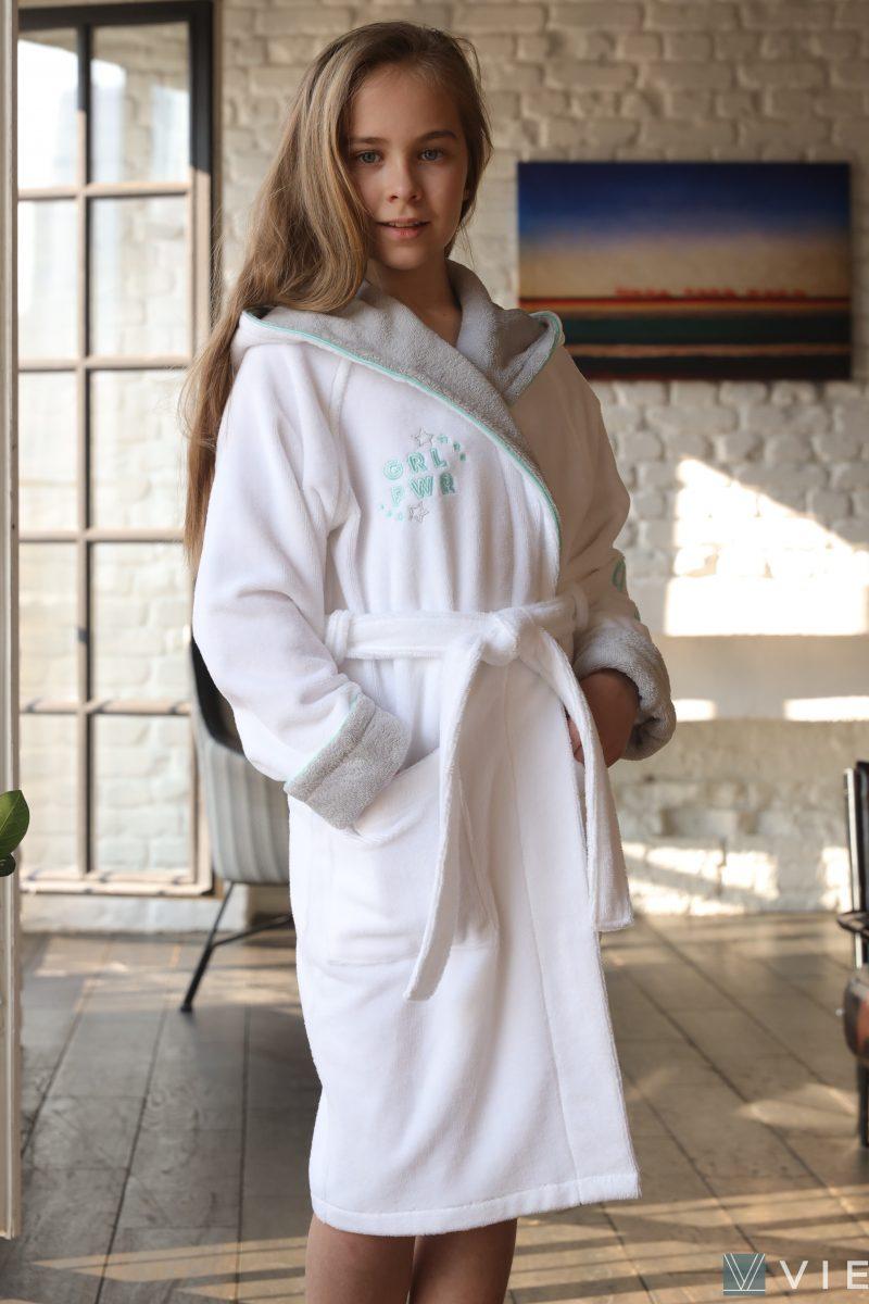 Подростковый халат SPORT GIRL (белый)