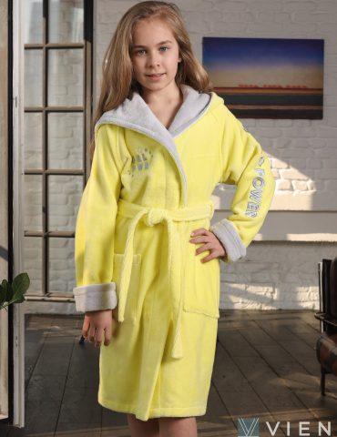 Подростковый халат SPORT GIRL (лимон)