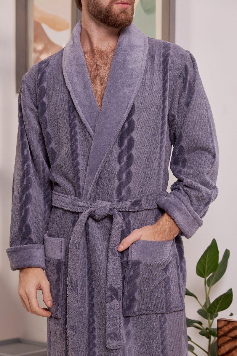 Мужской махровый халат RICHARD (Grey)