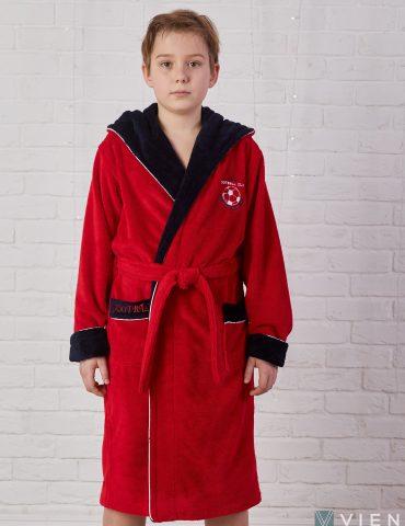 Ronaldo (Red) подростковый бамбуковый халат