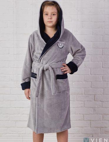 Ronaldo (Silver) подростковый бамбуковый халат