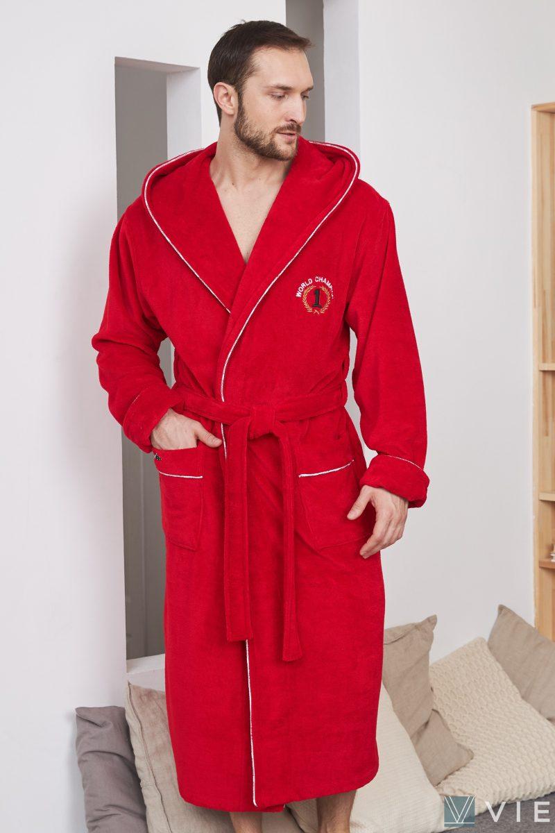 WORLD CHAMPION (Red) махровый мужской халат