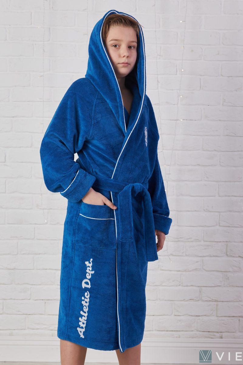 Подростковый махровый халат ATHLETIC DEPT (Royal)
