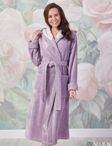 Violetta (лаванда) женский мягкий халат
