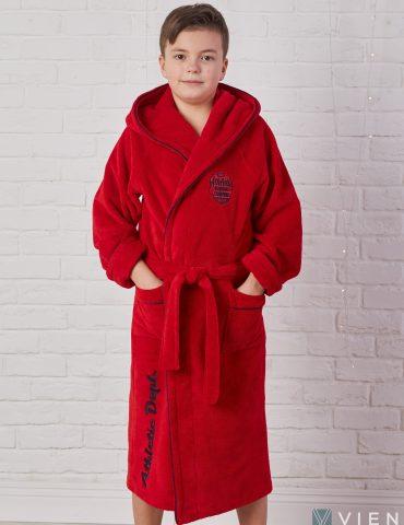 Подростковый махровый халат ATHLETIC DEPT (Red)