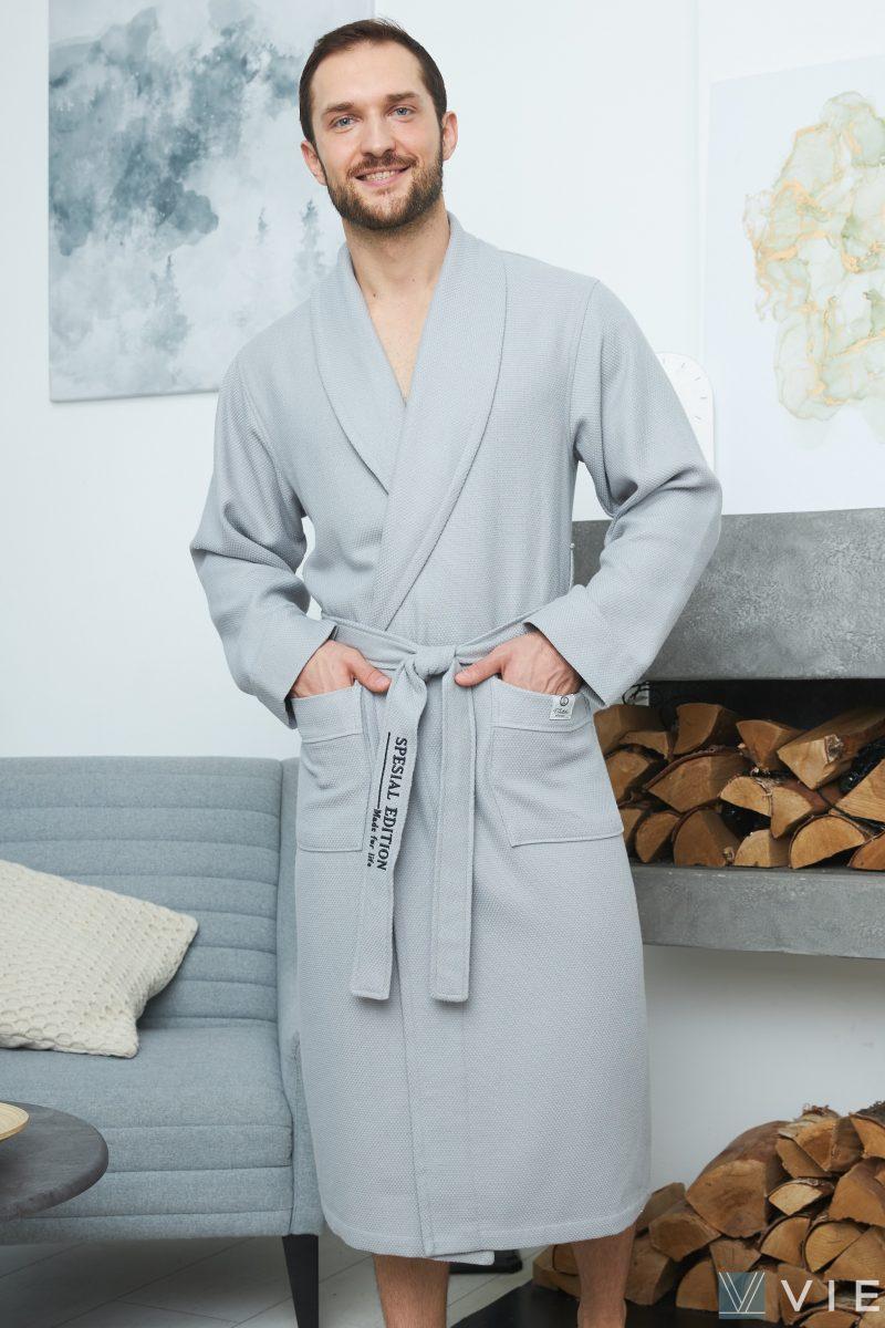 Вафельный халат OTTOMAN (Серый)