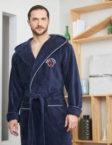WORLD CHAMPION (Denim) махровый мужской халат