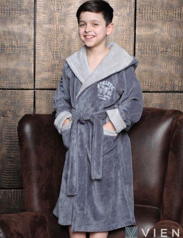 Athletic Junior (Silver) подростковый бамбуковый халат