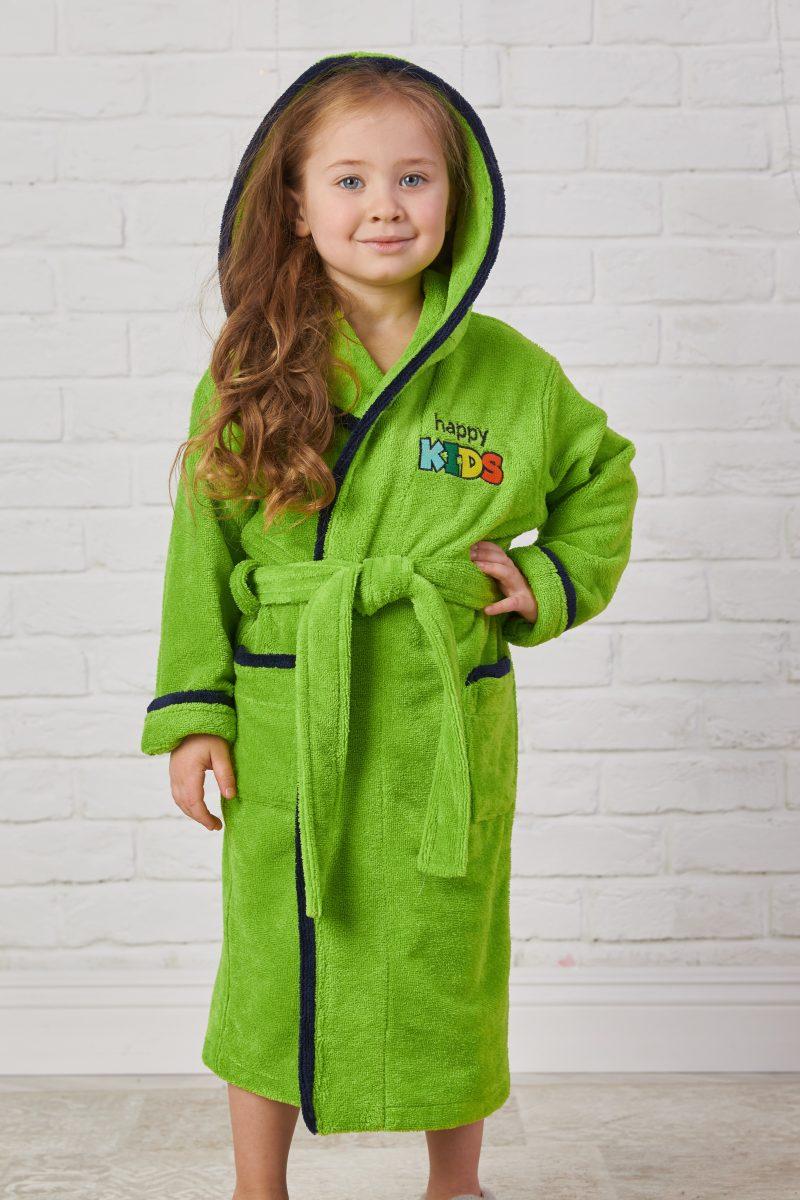 Детский велюровый халат Happy Kids (apple)