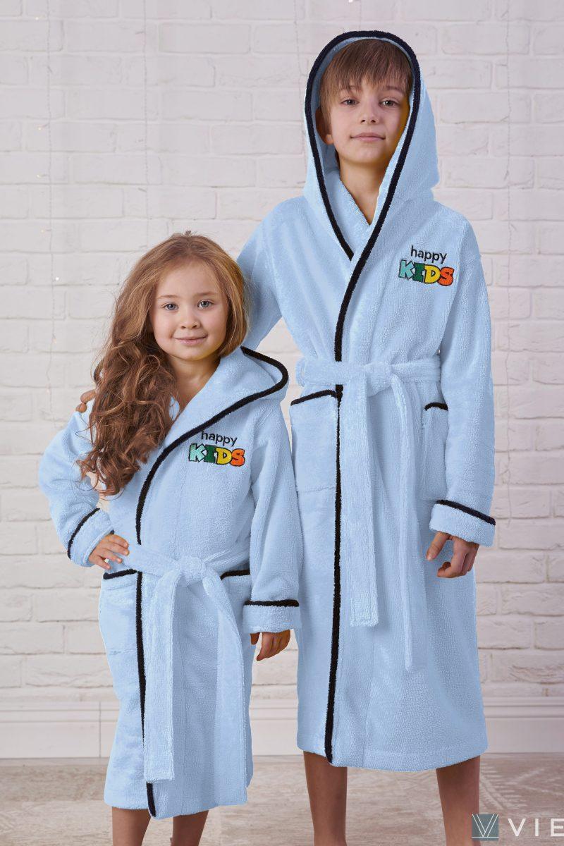 Детский велюровый халат Happy Kids (blue)