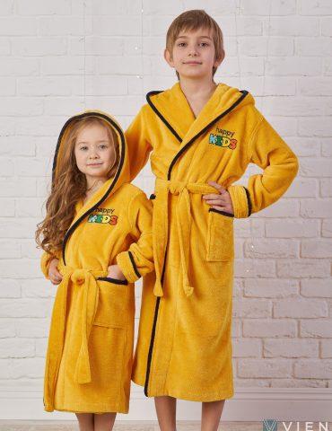 Детский велюровый халат Happy Kids (sun)