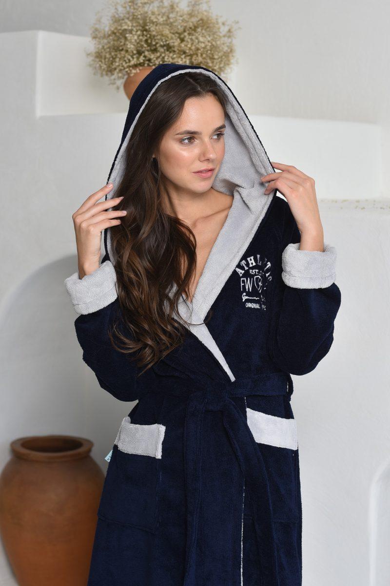 ATHLETIC LADY (Navy) женский халат