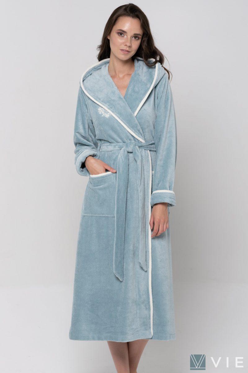 Juliette (ниагара) женский бамбуковый халат с капюшоном