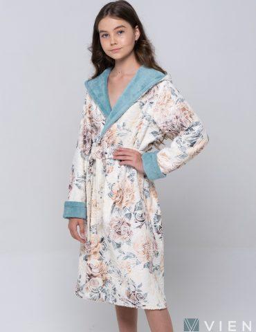 Подростковый махровый халат LITTLE MADONNA (Mint)