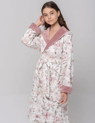 Подростковый махровый халат LITTLE MADONNA (pudra)