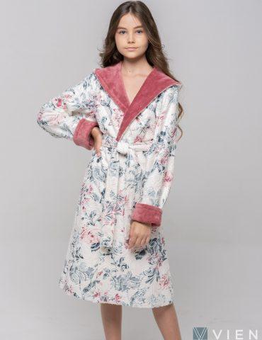 Подростковый махровый халат LITTLE MADONNA (rose)