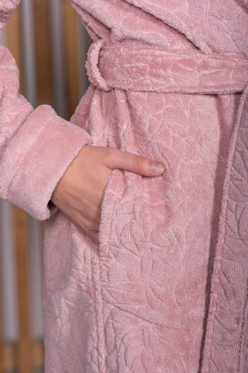 Женский махровый халат CARLOTTA (Pudra)