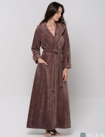 Длинный Женский махровый халат LADY (Mokko)